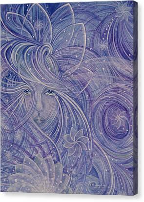 Snow Flower Canvas Print by Caroline Czelatko