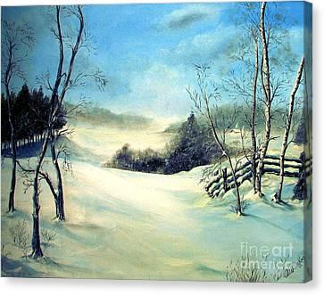 Snow Flurries Canvas Print by Anna-Maria Dickinson