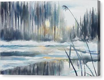 Snow From Yesterday Canvas Print by Ivana Westin