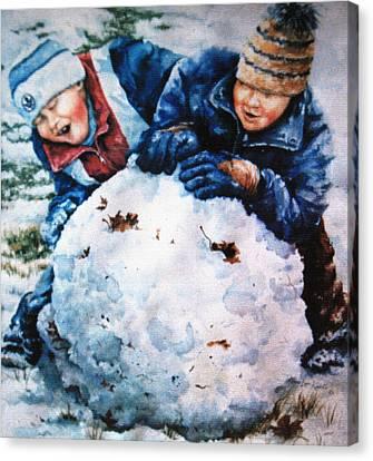 Snow Fun Canvas Print by Hanne Lore Koehler