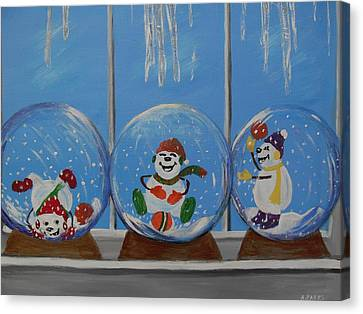 Snow Globes Canvas Print