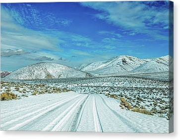 Snow In Death Valley Canvas Print