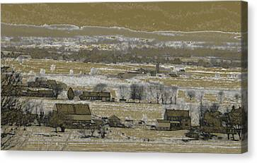Canvas Print featuring the photograph Snow In The Valley by Vilas Malankar