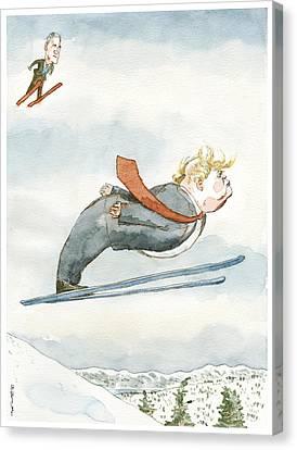 Snow Job Canvas Print