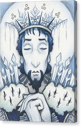 Snow King Slumbers Canvas Print by Amy S Turner