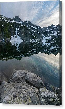 Snow Lake Chair Peak Dusk Reflection Canvas Print by Mike Reid