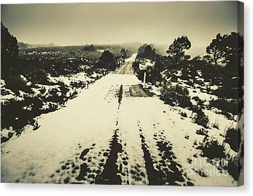 Snow Lane Canvas Print by Jorgo Photography - Wall Art Gallery