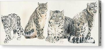 Feline Canvas Print - Snow Leopard Wrap by Barbara Keith