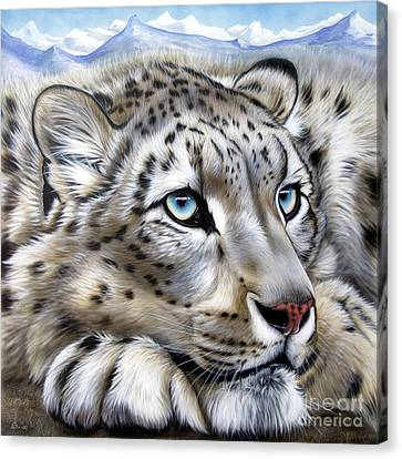 Snow Leopards Canvas Print - Snow-leopard's Dream by Sandi Baker