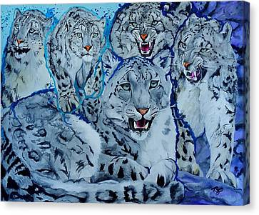 Snow Leopards Canvas Print