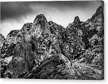 Canvas Print featuring the photograph Snow On Peaks 46 by Mark Myhaver
