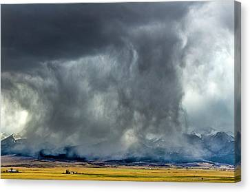 Snow On The Rockies Canvas Print