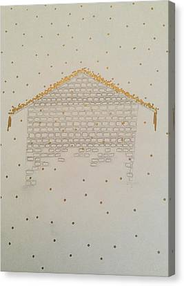 Rooftop Canvas Print - Snow On The Rooftops by Maggie Salisbury