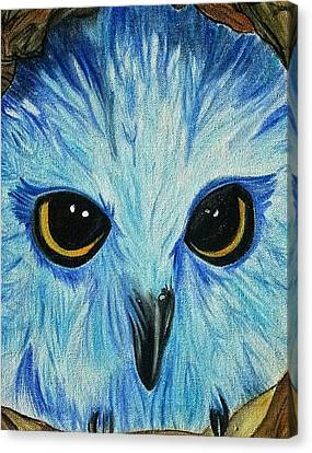 Snow Owl Canvas Print by Melanie Gervais