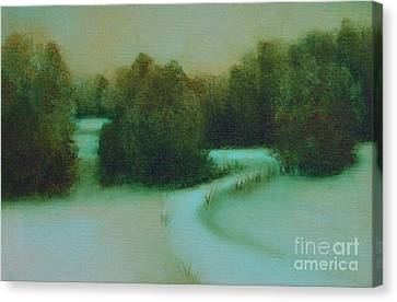 Snow Path Canvas Print by Jana Baker
