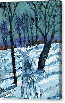 Snow Scene Canvas Print - Snow by Paul Powis