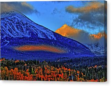 Canvas Print featuring the photograph Snow Peak Fall by Scott Mahon