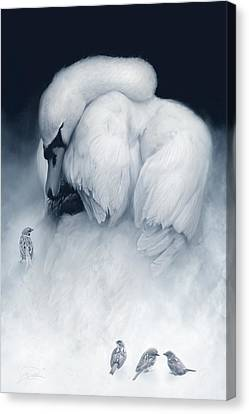 Snow Queen And Her Court Canvas Print by Joel Payne