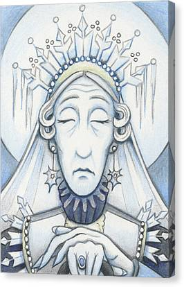 Snow Queen Mum Slumbers Canvas Print by Amy S Turner