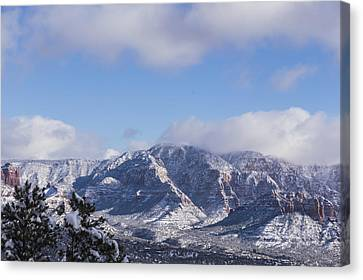 Canvas Print featuring the photograph Snow Rim by Laura Pratt