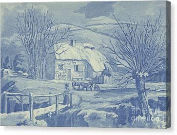 Snow Scene Canvas Print by English School
