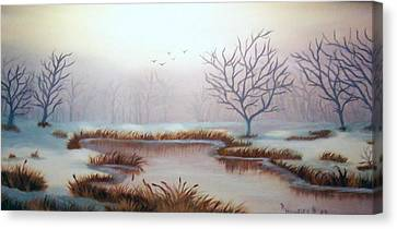 Snow Scene Canvas Print by Ruth  Housley