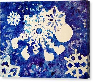 Snow Sheep Canvas Print by Sheep McTavish