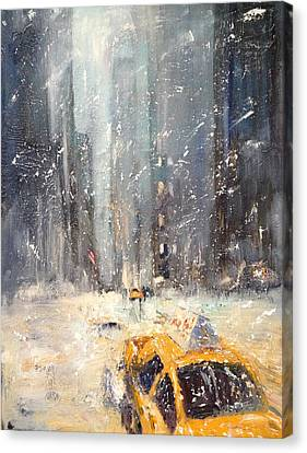 Snow Snow Snow... Canvas Print by NatikArt Creations