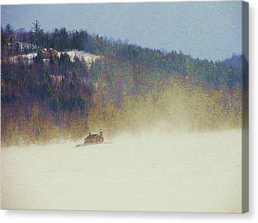 Michael Canvas Print - Snow Squall by Mike Breau