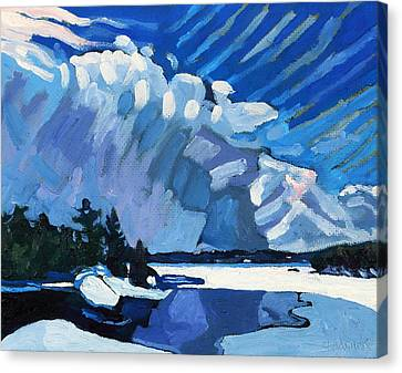 Snow Squalls Canvas Print by Phil Chadwick