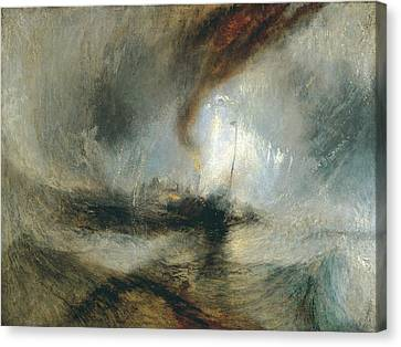 Canvas Print featuring the painting Snow Storm by Joseph Mallord William Turner