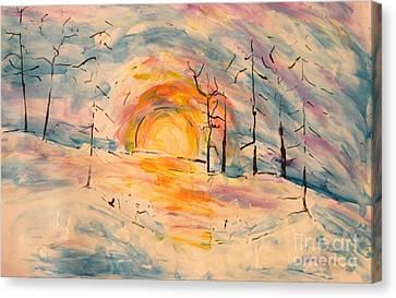 Canvas Print - Snow Sun by Tina Sheppard
