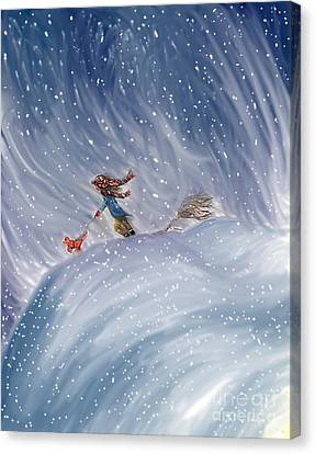 Snow Tang - Story Illustration 7 - Age 12 Canvas Print by Dawn Senior-Trask