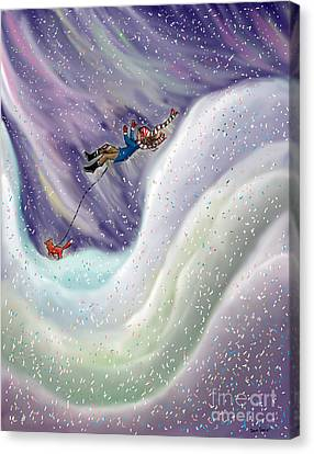 Snow Tang - Story Illustration 8 - Age 12 Canvas Print by Dawn Senior-Trask