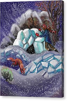 Snow Tang - Story Illustration 9 Canvas Print by Dawn Senior-Trask
