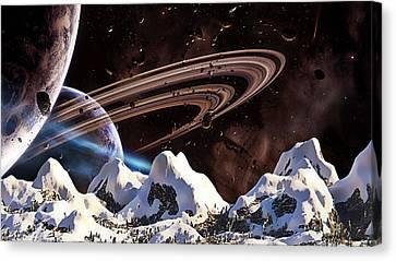 Snow Top Canvas Print