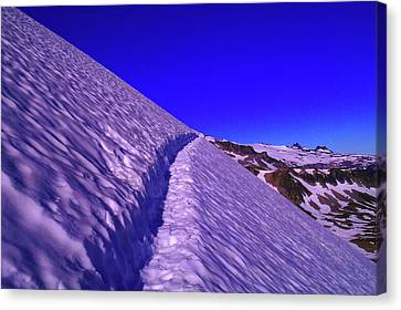 Snow Trail  Canvas Print by Jeff Swan