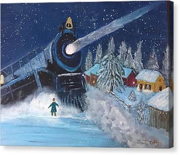 Snow Train Canvas Print