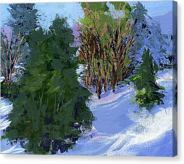 Snow Trees Canvas Print
