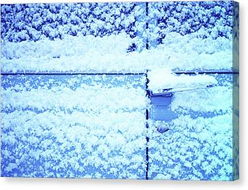 Canvas Print featuring the photograph Snow Van 51 Chevy Panel by Laurie Stewart