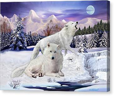 Snow Wolves Of The Wild Canvas Print
