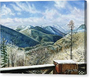 Winter Blues Snowbird Mountain  Canvas Print