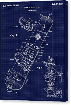 Snowboard Patent Blueprint Drawing Canvas Print