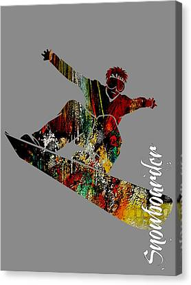 Alpine Canvas Print - Snowboarder Collection by Marvin Blaine