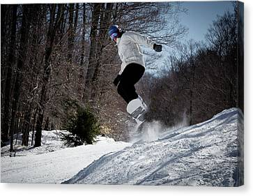 Canvas Print featuring the photograph Snowboarding Mccauley Mountain by David Patterson