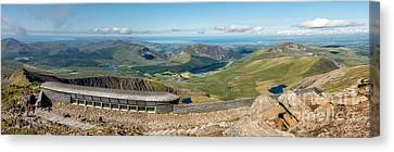 Snowdon Cafe Canvas Print by Adrian Evans