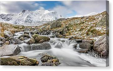 Cwm Idwal Canvas Print - Snowdonia Mountain River by Adrian Evans
