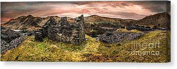 Barrack Canvas Print - Snowdonia Ruins Panorama by Adrian Evans