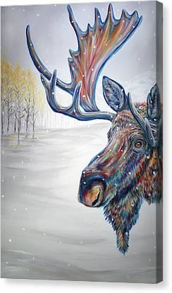 Alaska Canvas Print - Snowdrifter Triptych Panel 1 by Teshia Art