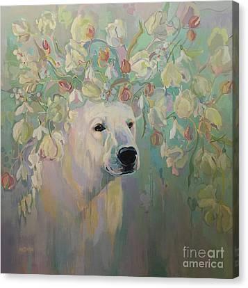 Snow Melt Canvas Print - Snowdrop by Kimberly Santini